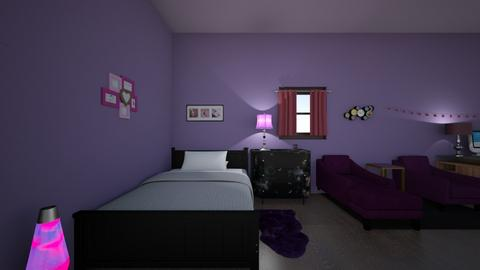 purrple and black sister - Bedroom  - by tynka09