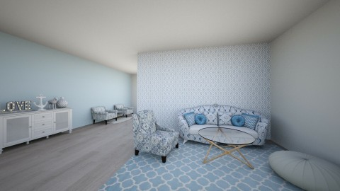 Blue Living Room - by Anna2121