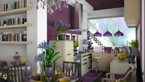 Purple Kitchen - Modern - Kitchen  - by Your well wisher