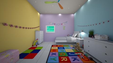 pastel play room - Modern - Kids room  - by jade1111