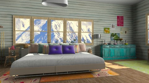 Painted Wood - Bedroom  - by monique_me