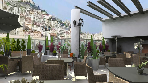 resto Marseille_CWIN - Eclectic - Garden  - by TV Renders