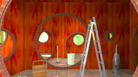 Hobbit Hole to Let - Rustic - Bedroom  - by Mum Dali