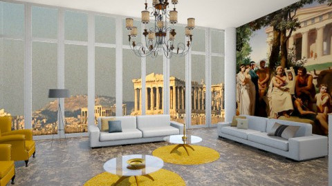 Athens Glory - Eclectic - Living room  - by vesperart