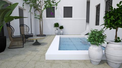 Modern Moroccan courtyard - Garden  - by Tuija