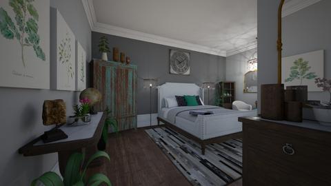 Rustic Blue Pop - Bedroom  - by Jodie Scalf