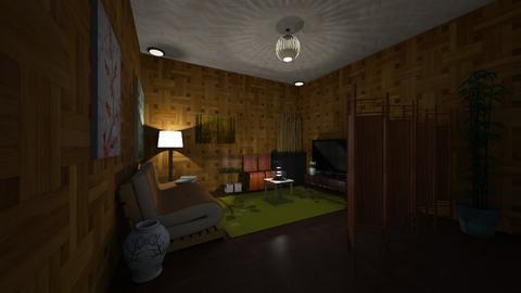 Bamboo Designed Futon - Living room  - by josh_mac
