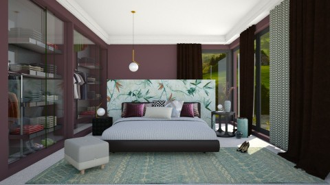 fantasia floreale - Bedroom  - by Svetlana Baitchourina