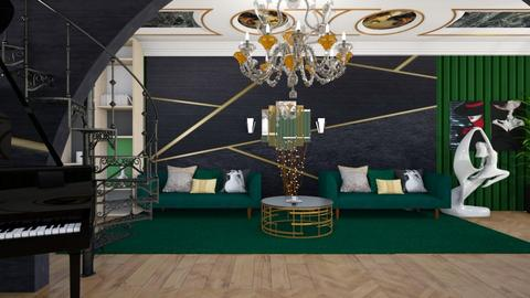 art deco living room - Living room  - by bluedolphin12