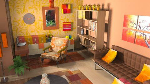 Cozy Office - Eclectic - Office  - by Karenina