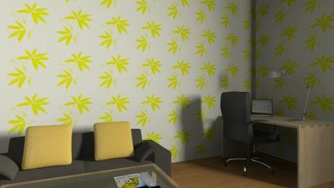 yellowwhite - Living room - by Annano