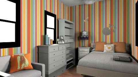 Matt and Anne - Retro - Bedroom  - by KarolinaZ