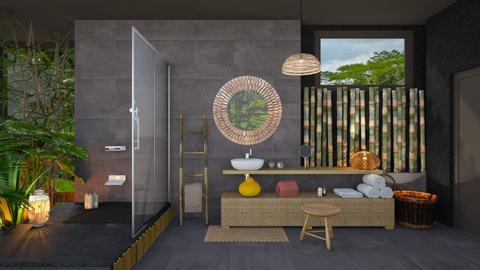 Bamboo bathroom - Bathroom  - by Mandine