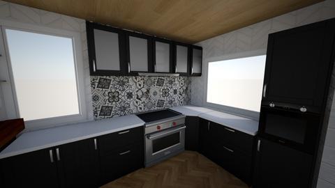 Kitchen1 without brick 4 - Kitchen - by sancharib