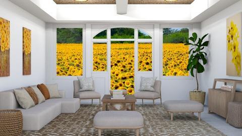 Sunflowers - by rebsrebsmmg