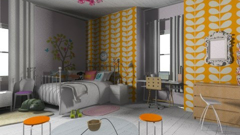Megans room - Retro - Bedroom - by Amy Neil