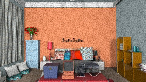 ORANGE - Retro - Bedroom  - by viniciuzgarcia