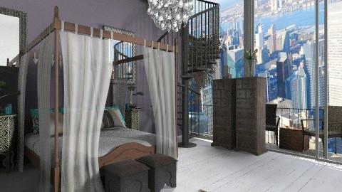 New York Bedroom - Rustic - Bedroom  - by Emmmaa