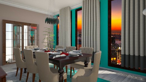 elegant dining - Modern - Dining room - by SoyJamesRody