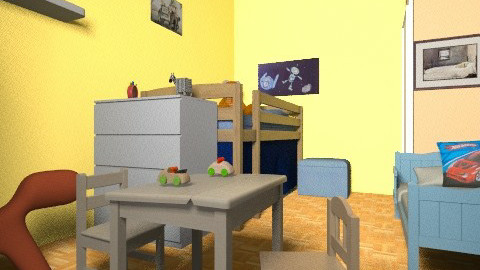 cote_chambre_enfants3 - Eclectic - Kids room  - by bwebox