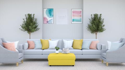 pastel coloured living - Living room  - by yellowAri