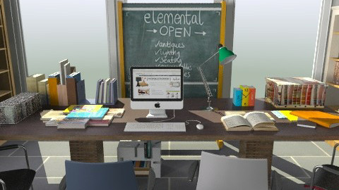 Warehouse Workroom - Rustic - Office  - by ergoe