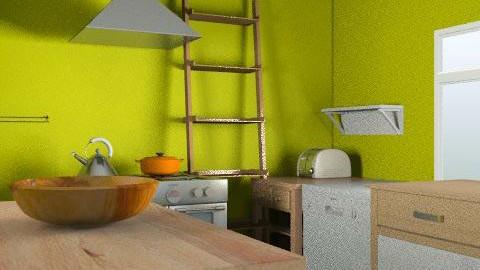 kitchen layout #1 choice - Minimal - Kitchen  - by cindredm05