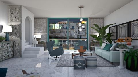 Modern Mykonos - Modern - Living room  - by janip
