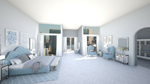 Glamorous city living - Glamour - Bedroom  - by Ali Ruth