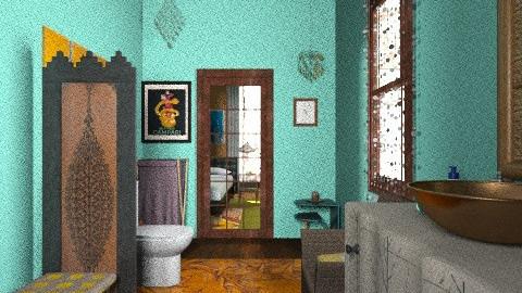 dark side of the bathroom - Eclectic - Bathroom  - by PennyDreadful