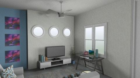 Family Room1 - Modern - Living room - by Liizbeth