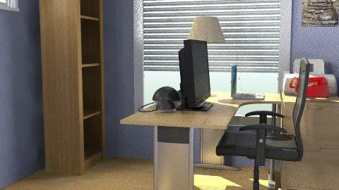 Martin's Office J Desk/Cab - Minimal - Office  - by designyogi