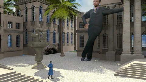 Intruder in Gulliver's City - Classic - Garden  - by Bibiche