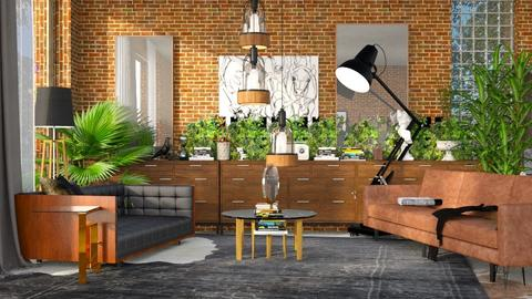 playful modern - Living room - by anekyen
