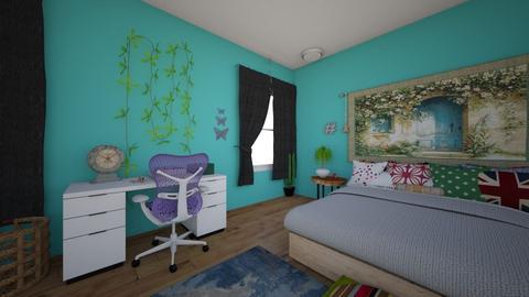 Boho Bedroom - Retro - Bedroom  - by 00l0ps