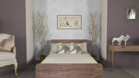 horse lover - Country - Bedroom  - by bec_curtis
