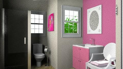 Pink Bathroom - Glamour - Bathroom  - by rachaelgowdridge