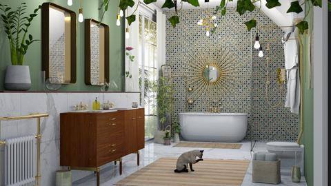 Retro Boho Bathroom - Bathroom  - by sabaclayes