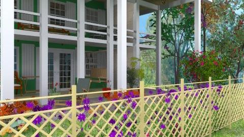 Colonial House - Classic - Garden  - by Bibiche