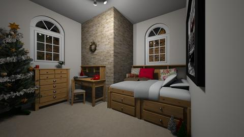 christmas themed bedroom - Classic - Bedroom  - by quora