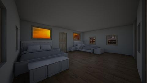 twin room - Modern - Bedroom - by Mikayla Ryann