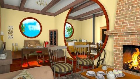 Hobbit Hole - Rustic - Living room  - by giulygi