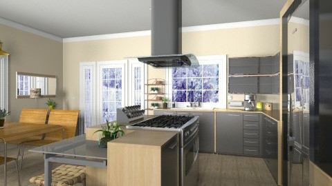 Island Kitchen - Modern - Kitchen  - by Bibiche