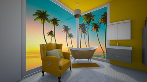 yellow bathroom - Classic - Bathroom  - by Natasha W