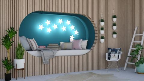 Cute tuck away - Modern - Bedroom  - by evabarrett