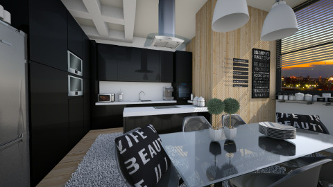 in black - Modern - Kitchen  - by Senia N