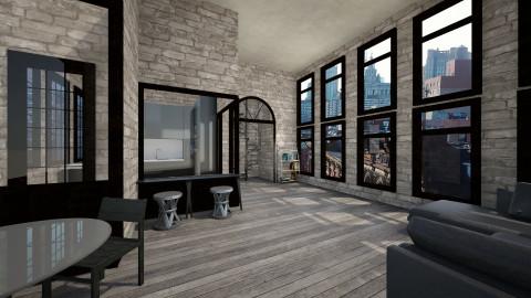 lofty - Rustic - Living room  - by heyimkaity