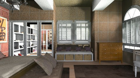 chocoate and oriental - Glamour - Bedroom - by Suzanne Hoskins