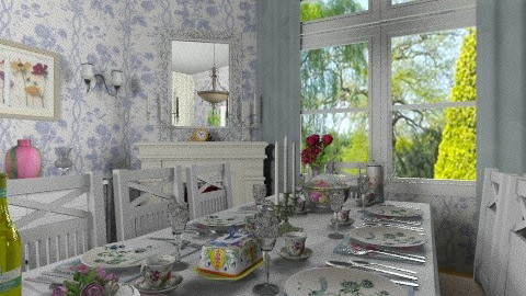 The happy meal - Vintage - Dining room  - by Bibiche