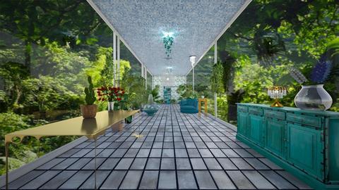 jungle view hallway - by seasidestarfish